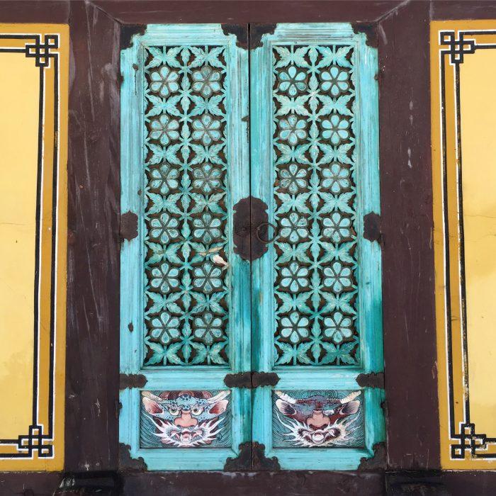 bulguksa temple cat doors 700x700 - A day trip from Busan to Gyeongju, South Korea