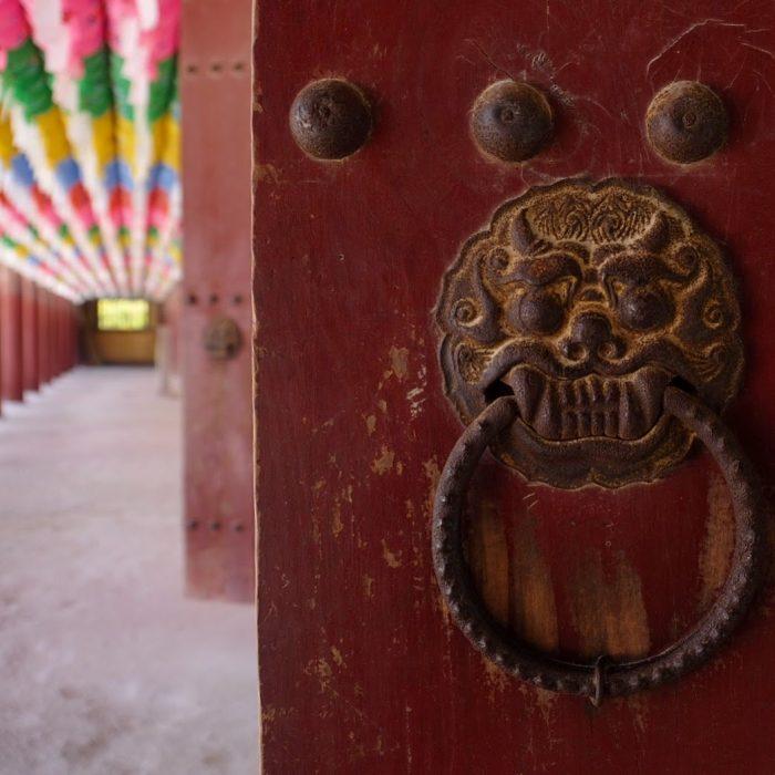 bulguksa temple door handle 700x700 - A day trip from Busan to Gyeongju, South Korea