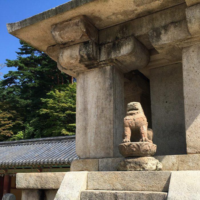 bulguksa temple lion 700x700 - A day trip from Busan to Gyeongju, South Korea