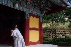 bulguksa temple monk 300x200 - A day trip from Busan to Gyeongju, South Korea