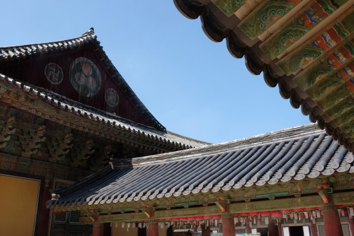 bulguksa temple roof 700x467 - A day trip from Busan to Gyeongju, South Korea