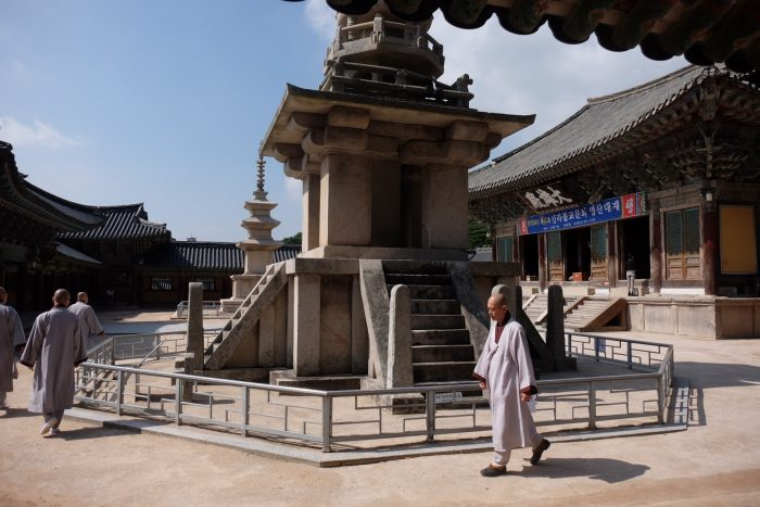 bulguksa temple walking 700x467 - A day trip from Busan to Gyeongju, South Korea