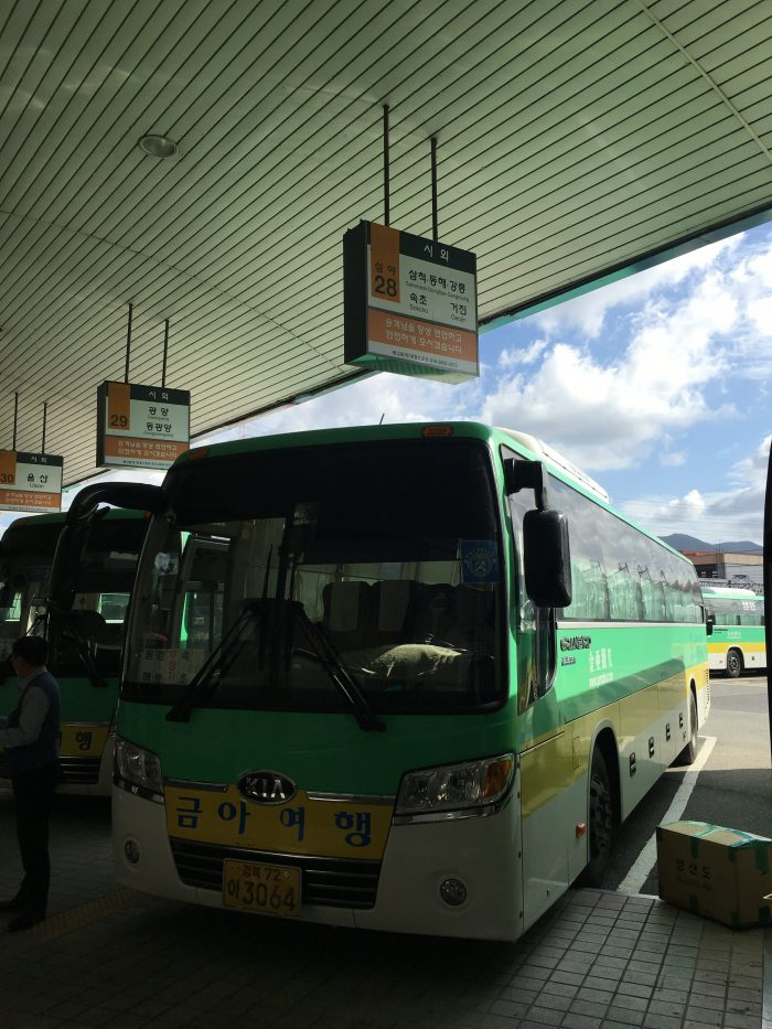 busan sokcho bus 700x933 - Busan to Sokcho, South Korea by bus