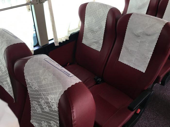 busan sokcho bus seats 700x525 - Busan to Sokcho, South Korea by bus
