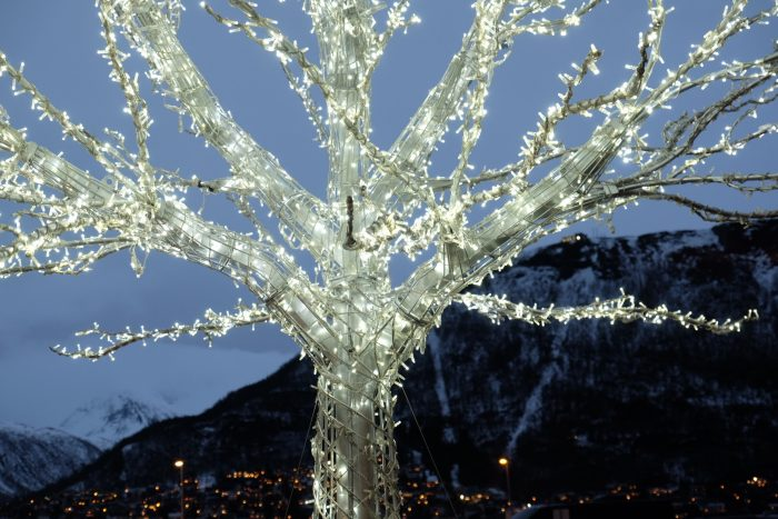 christmas tree lights tromso norway 700x467 - Top things to do during the Polar Night in Tromsø, Norway