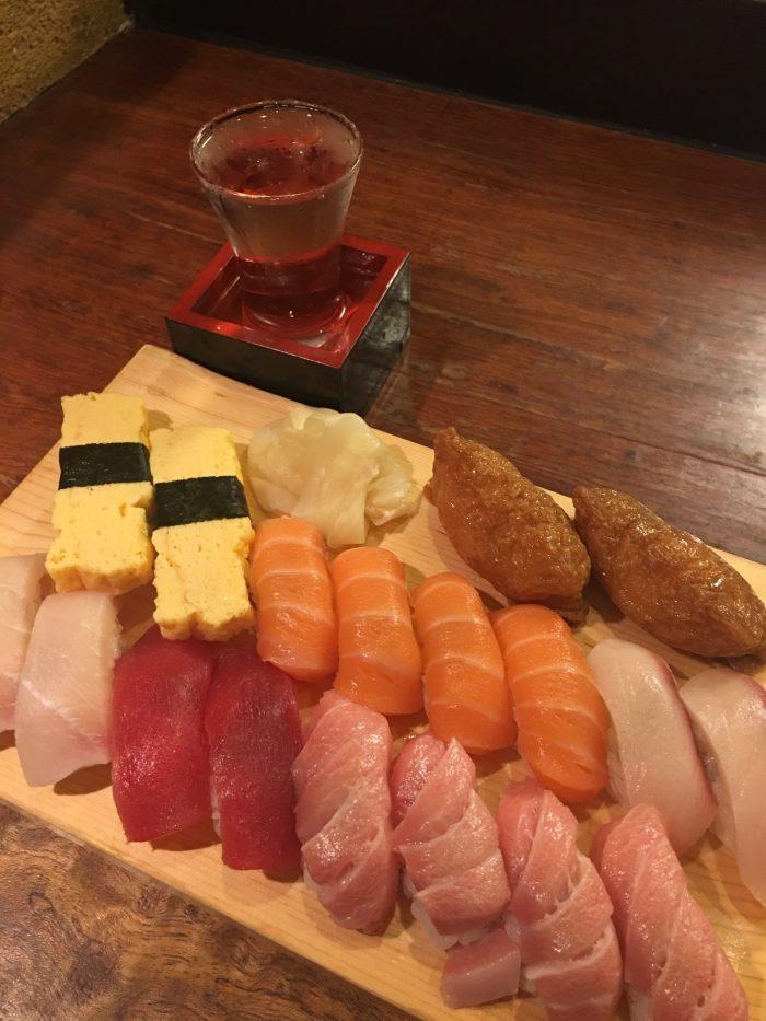 ginzo akihabara sushi 700x933 - A layover in Tokyo from Haneda Airport - sushi, arcades, & beer in Akihabara