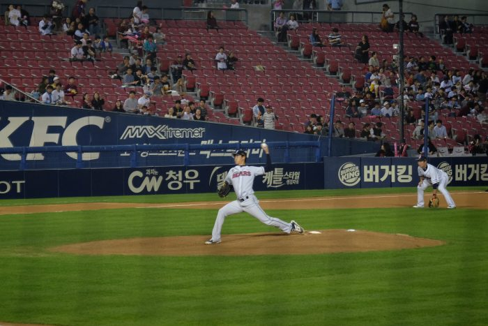going to a korean baseball game 700x467 - Attending a Doosan Bears KBO game at Jamsil Stadium in Seoul, South Korea