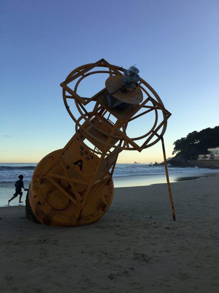 haeundae beach buoy 700x933 - A visit to Haeundae & Dongbaek Park in Busan, South Korea