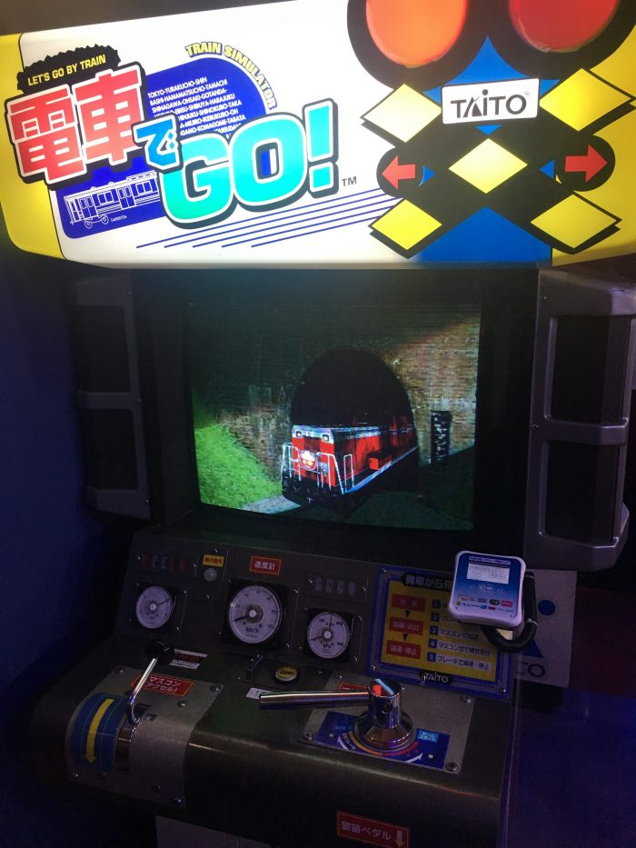 japanese train arcade game go 700x933 - A layover in Tokyo from Haneda Airport - sushi, arcades, & beer in Akihabara