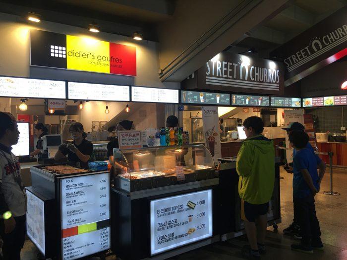 kbo game food churros waffles 700x525 - Attending a Doosan Bears KBO game at Jamsil Stadium in Seoul, South Korea