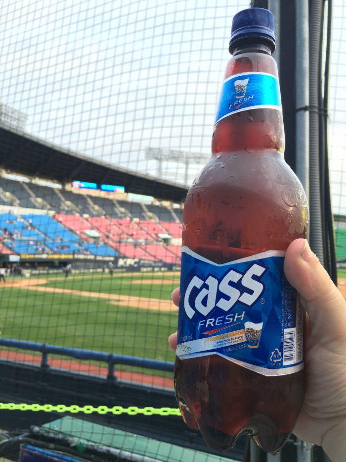 korean baseball game cheap beer 700x933 - Attending a Doosan Bears KBO game at Jamsil Stadium in Seoul, South Korea