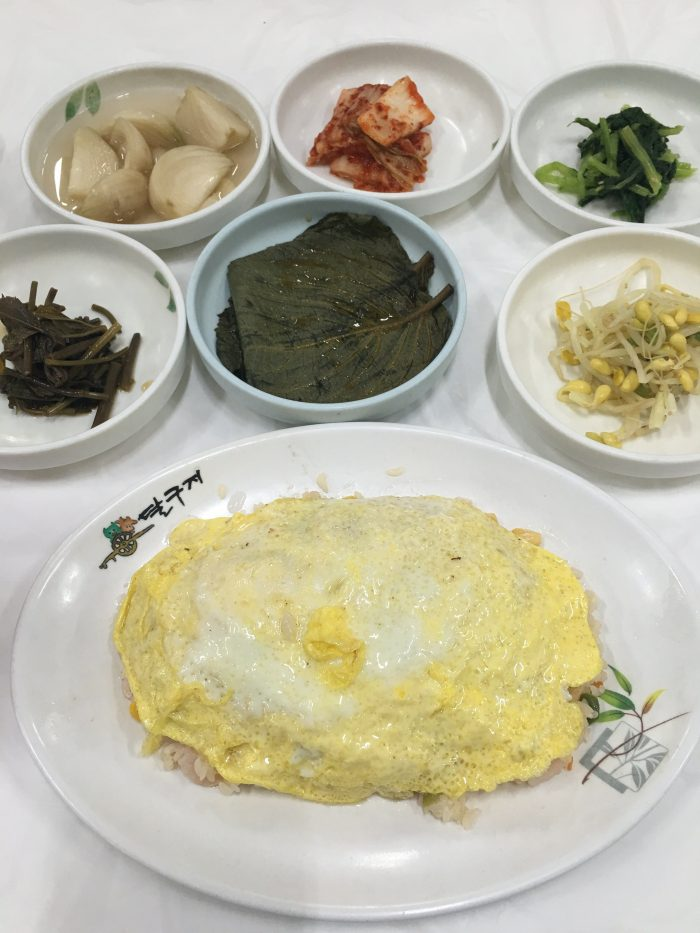 korean omelette seafood rice 700x933 - Staying & eating near the entrance of Seoraksan National Park in Sokcho, South Korea - Goodstay Smile Resort & Guesthouse