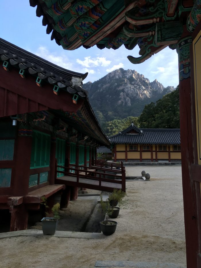 sinheungsa temple seorkasan 700x933 - Hiking in Seoraksan National Park - Heundeulbawi Rock, Gyejoam Grotto, & Ulsanbawi Rock