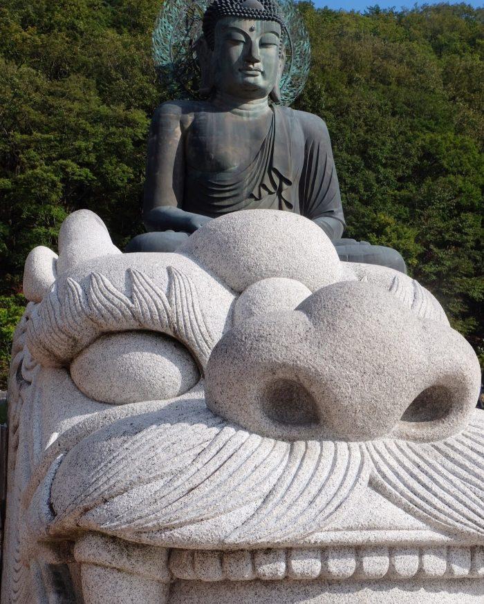 stone dragon metal buddha seoraksan national park 700x874 - Hiking in Seoraksan National Park - Biseondae