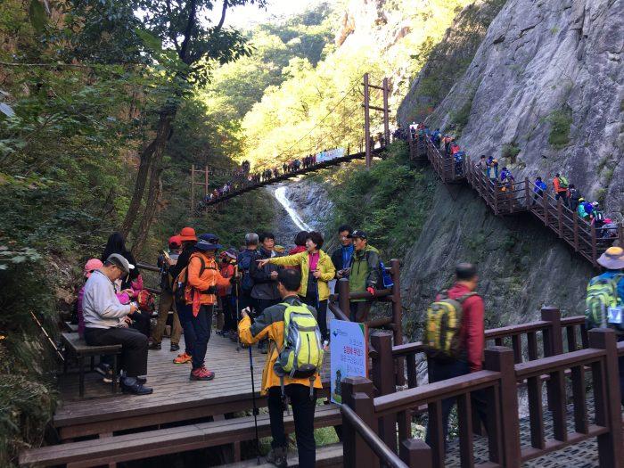 yukdam falls viewpoint 700x525 - Hiking in Seoraksan National Park - Biryong, Yukdam, & Towangseong Falls