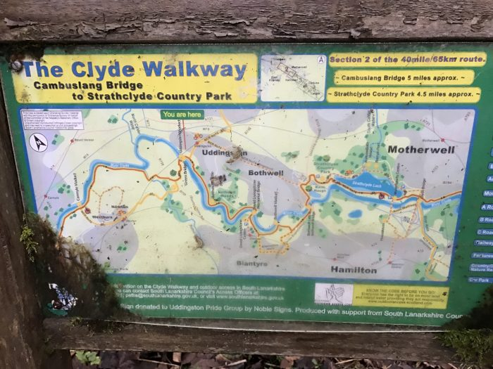 clyde walkway map 700x525 - A day trip from Glasgow to Bothwell Castle