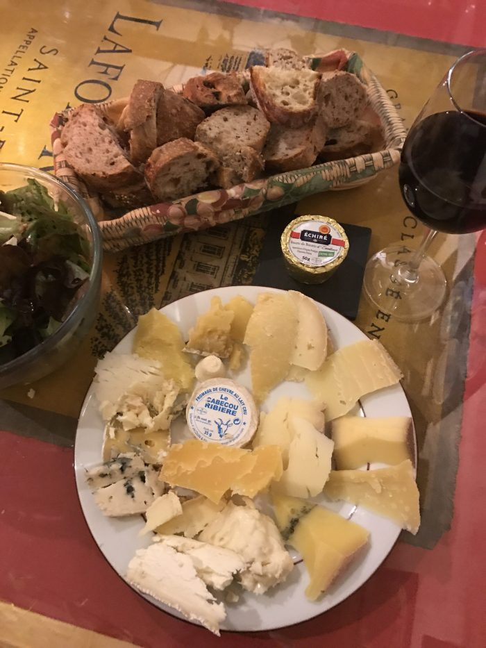 all you can eat cheese 700x933 - A cheese feast at Baud Et Millet in Bordeaux, France