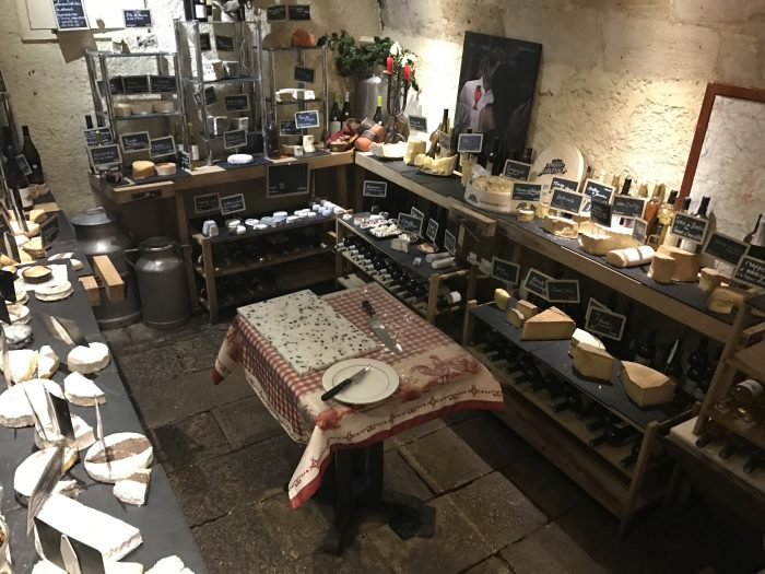 baud et millet cheese cellar 700x525 - A cheese feast at Baud Et Millet in Bordeaux, France