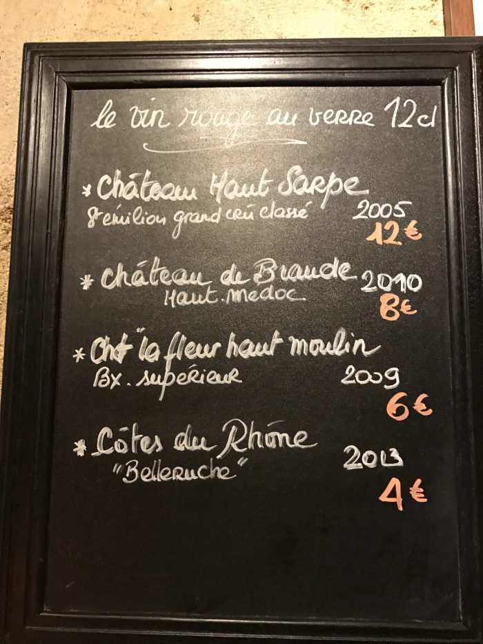 baud et millet wine by the glass 700x933 - A cheese feast at Baud Et Millet in Bordeaux, France