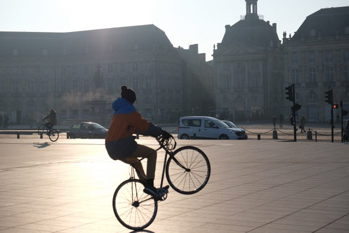 bordeaux cycling 700x467 - A walking tour of historic Bordeaux & The Port of the Moon