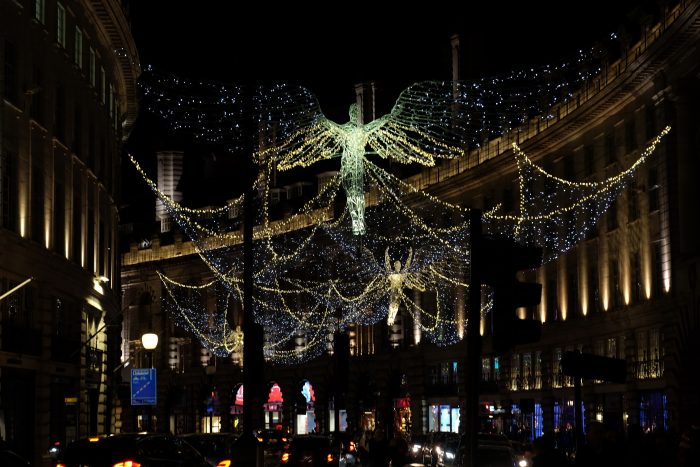 christmas lights in central london 700x467 - The top things to do during Christmas & New Year's in London