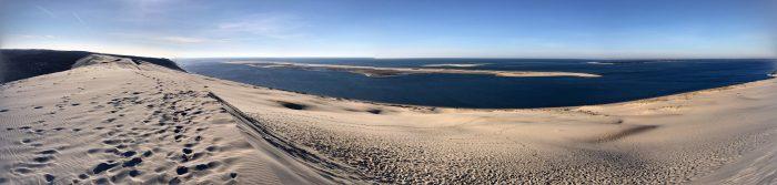 dune du pilat panorama 700x167 - A day trip from Bordeaux to Dune du Pilat & Arcachon
