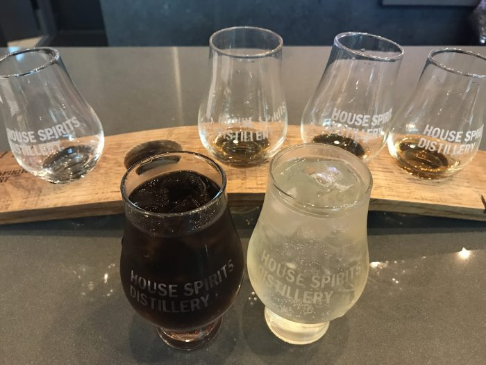house spirits distillery pdx whiskey tasting 700x525 - House Spirits Distillery Portland PDX Priority Pass review