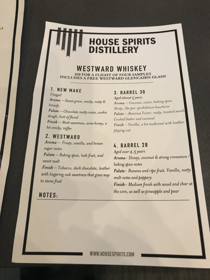 house spirits distillery westward whiskey flight 700x933 - House Spirits Distillery Portland PDX Priority Pass review