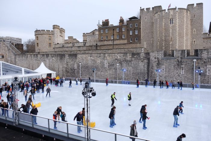 ice skating tower of london 700x467 - The top things to do during Christmas & New Year's in London