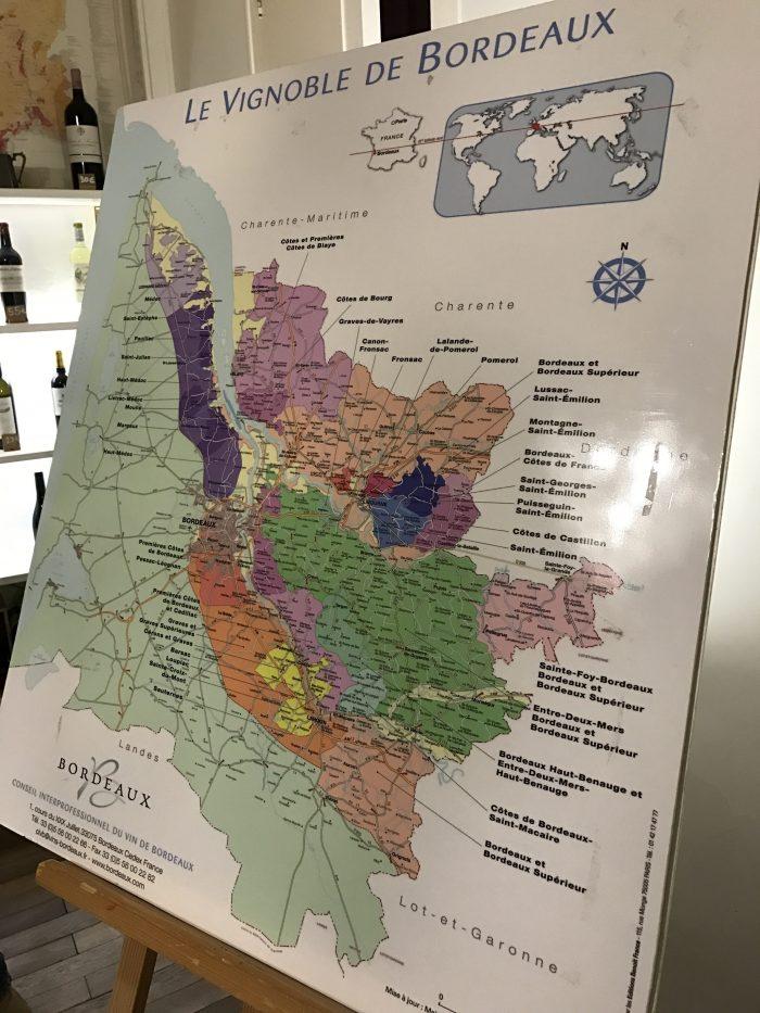 bordeaux wine map 700x933 - A wine tasting tour of Bordeaux including Saint Emilion, Chateau de Sales, & Chateau de Ferrand