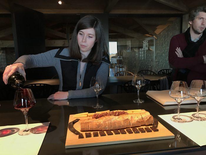 chateau de ferrand wine tasting 700x525 - A wine tasting tour of Bordeaux including Saint Emilion, Chateau de Sales, & Chateau de Ferrand
