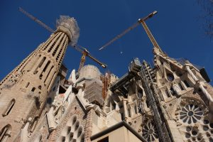 sagrada familia construction 300x200 - A visit to the Sagrada Familia in Barcelona, Spain