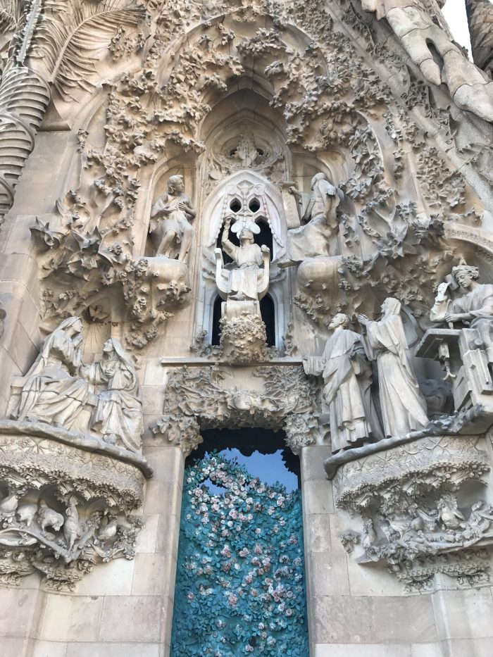 sagrada familia doorway statues 700x933 - A visit to the Sagrada Familia in Barcelona, Spain