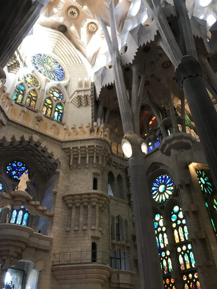 sagrada familia interior 700x933 - A visit to the Sagrada Familia in Barcelona, Spain