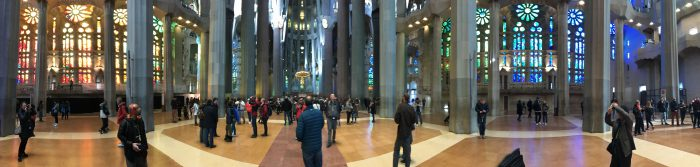 sagrada familia panorama 700x167 - A visit to the Sagrada Familia in Barcelona, Spain