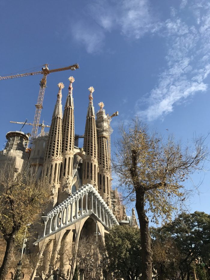 sagrada familia park 700x933 - A visit to the Sagrada Familia in Barcelona, Spain