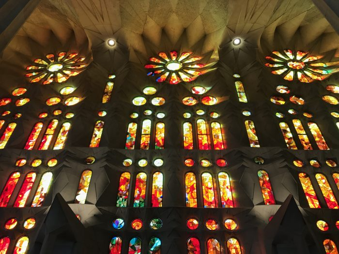 sagrada familia stained glass 700x525 - A visit to the Sagrada Familia in Barcelona, Spain