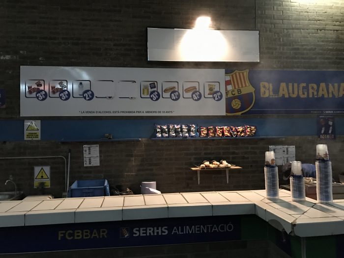 attending a barcelona match at camp nou beer 700x525 - Attending an FC Barcelona match at Camp Nou