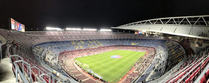 attending a barcelona match at camp nou panorama 700x279 - Attending an FC Barcelona match at Camp Nou