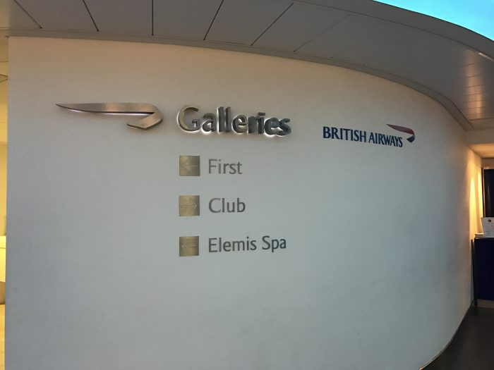 british airways galleries lounge london heathrow lhr terminal 3 entrance 700x525 - British Airways Galleries Lounge London Heathrow LHR Terminal 3 review