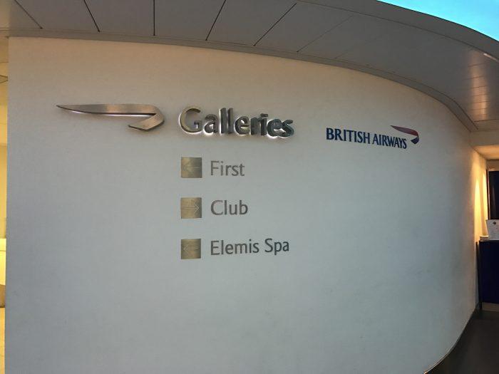 british airways galleries lounge london heathrow lhr terminal 3 entrance 700x525 - British Airways Galleries Lounge London Heathrow LHR Terminal 3 review