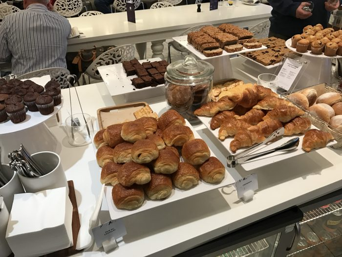 no 1 traveler lounge london heathrow baked goods 700x525 - No 1 Traveler Lounge London Heathrow LHR review