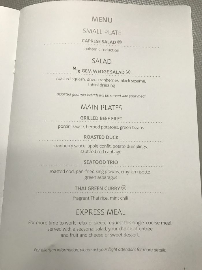 american airlines business class boeing 777 200 london heathrow lhr to los angeles lax food menu 700x933 - American Airlines Business Class Boeing 777-200 London Heathrow LHR to Los Angeles LAX review