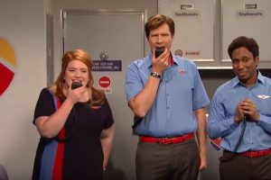 snl southwest airlines rap sketch will ferrell 300x200 - SNL - Southwest Airlines flight attendants rap sketch: Video