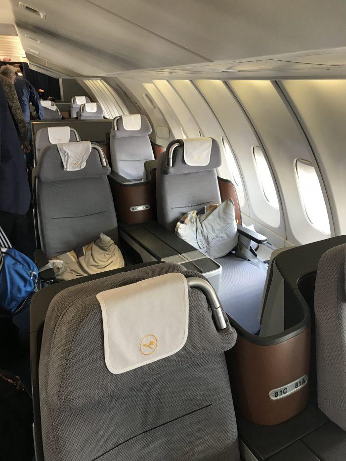 lufthansa business class boeing 747 400 denver den to frankfurt fra cabin 700x933 - Lufthansa Business Class Boeing 747-400 Denver DEN to Frankfurt FRA review