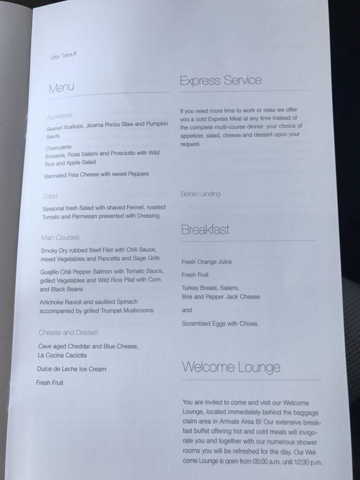 lufthansa business class boeing 747 400 denver den to frankfurt fra menu food 700x933 - Lufthansa Business Class Boeing 747-400 Denver DEN to Frankfurt FRA review