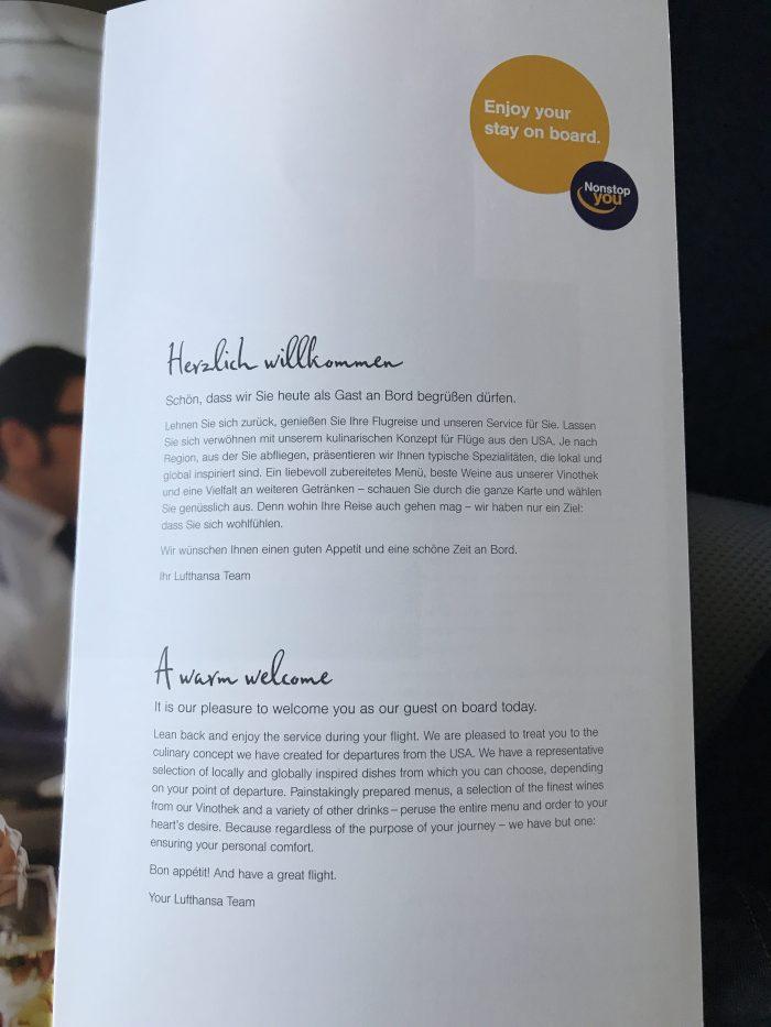 lufthansa business class boeing 747 400 denver den to frankfurt fra menu intro 700x933 - Lufthansa Business Class Boeing 747-400 Denver DEN to Frankfurt FRA review