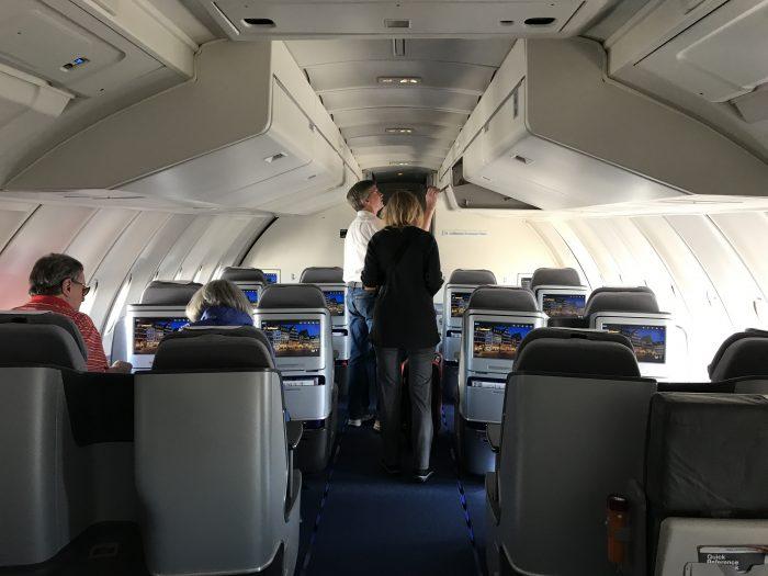 lufthansa business class boeing 747 400 denver den to frankfurt fra upper deck bubble 700x525 - Lufthansa Business Class Boeing 747-400 Denver DEN to Frankfurt FRA review