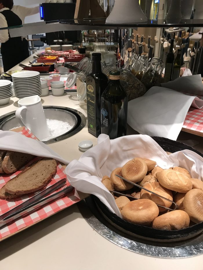 lufthansa welcome lounge frankfurt airport bread 700x933 - Lufthansa Welcome Lounge Frankfurt Airport FRA review