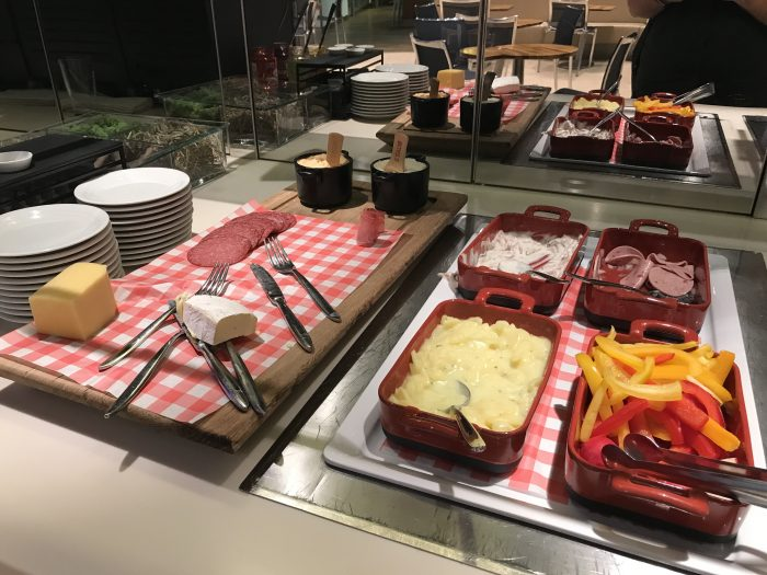 lufthansa welcome lounge frankfurt airport meat cheese 700x525 - Lufthansa Welcome Lounge Frankfurt Airport FRA review